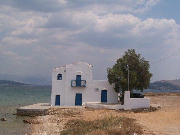 House of Sikelianos in Salamina island .  ( Faneromeni  area )