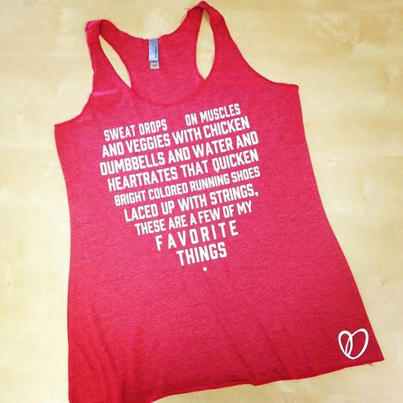 Favorite Things Workout Tank // Weight by AbundantHeartApparel
