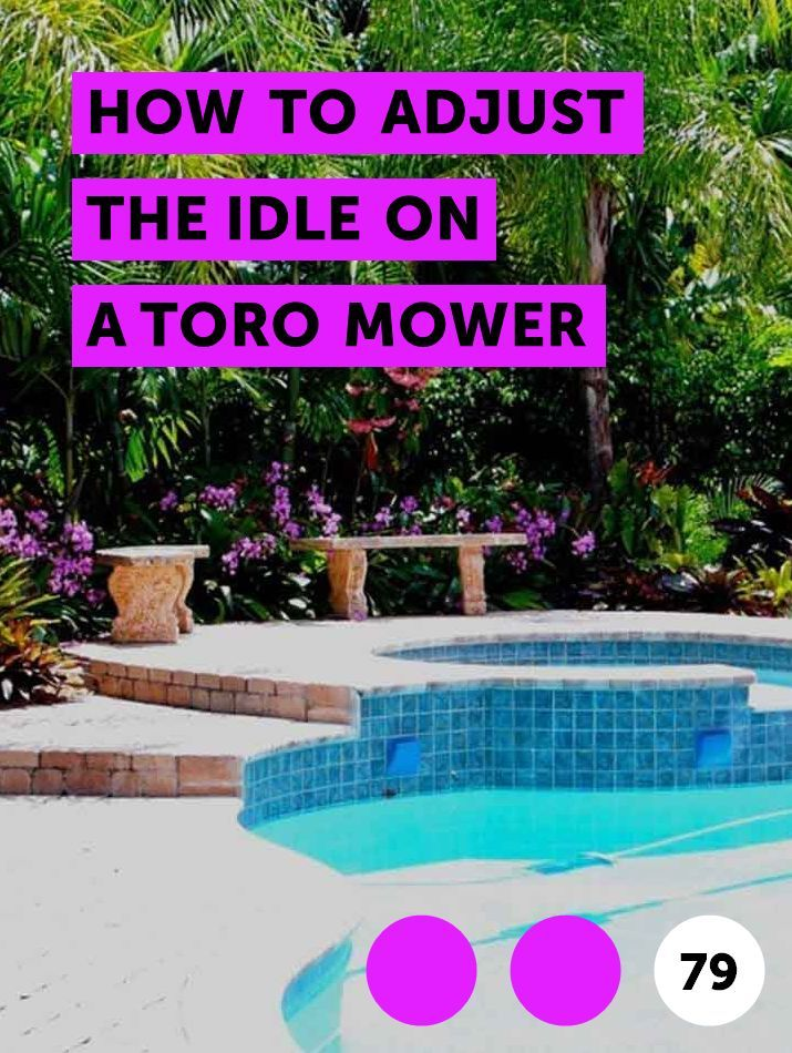 How to Adjust the Idle on a Toro Mower | Lawn Mowers | How to kill