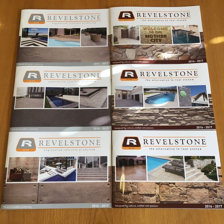 Our new brochures!! Looking good! www.revelstone.co.za