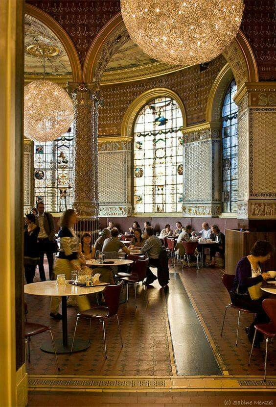 The tearoom ~ at the Victoria & Albert Museum, London. | via : UK Art & Architecture on Facebook