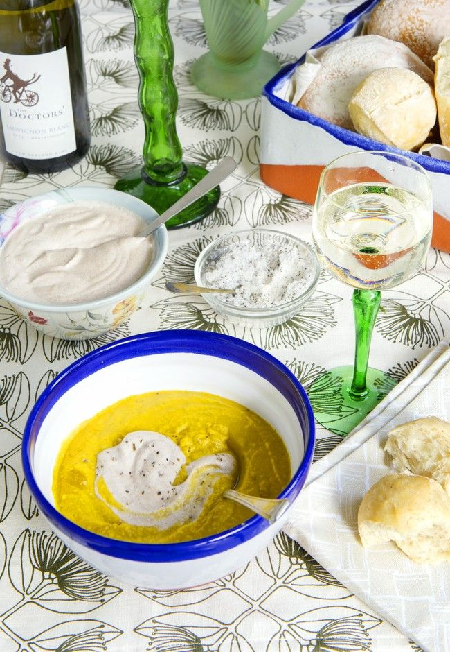 Spiced Pumpkin Soup with Cinnamon Cashew Cream | Good magazine