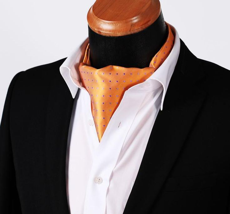 Run your Elegance 365 days a year! Elegance is a mindset Ascot Tie - Sunny - Runit365 your Elegant Men Store  #tie #menfashion #trendy #silk #runit365