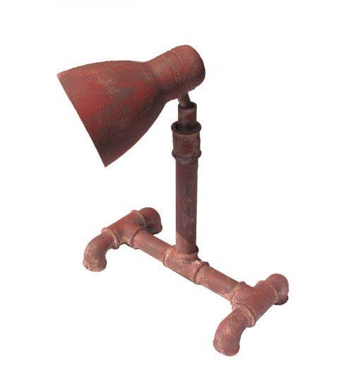 Industriální lampička - kovová lampička - koroze