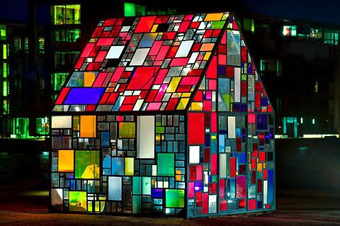 Tom Fruin's Glass House in Copenhagen
