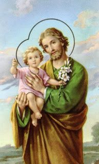 Pray the interactive virtual Saint Joseph's chaplet online,