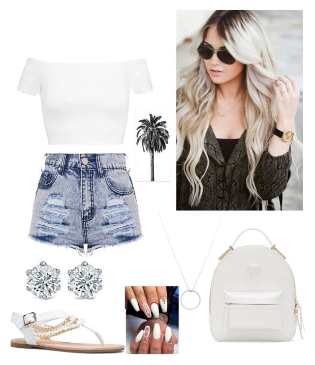 """""""Untitled #2105"""" by paoladouka on Polyvore featuring Alice + Olivia, Versace and Roberto Coin"""