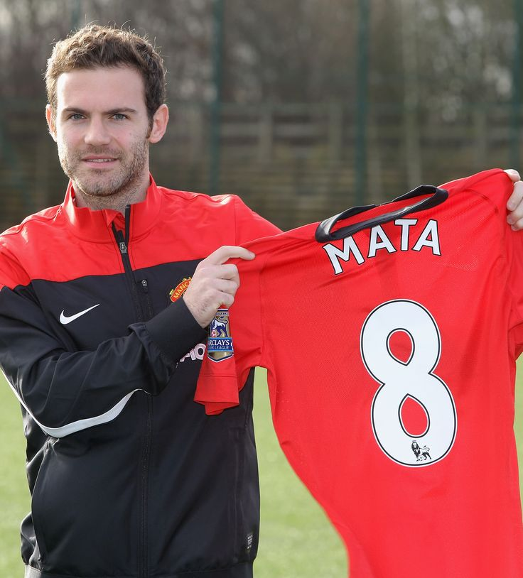 Juan Mata became a @manutd player in January 2014 and was handed the no.8 shirt.