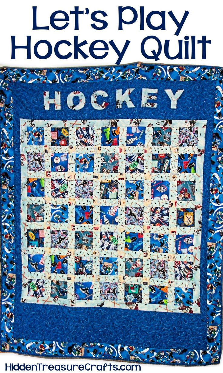 Lets Play Hockey Quilt Hidden Treasure Crafts And
