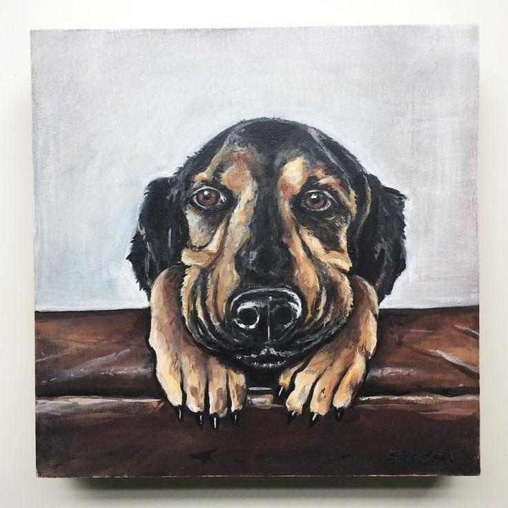 Pup pup! #dog #dogsofinstgram #puppy #painting #suzywilsonart #instaart #animalportait