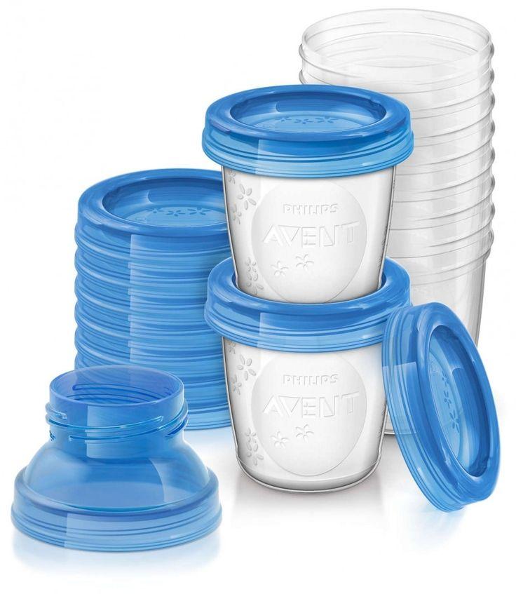 Copos para armazenamento de leite Avent  O sistema de armazenamento Philips AVENT é versátil, compacto e foi desenvolvido pensando no crescimento do seu bebê. Use o mesmo copo para armazenar o leite materno e a papinha do bebê. Ele é compatível com todos os bicos e extratores de leite Philips AVENT. Copos fáceis de identificar ajudam a visualizar as datas e o conteúdo. Capacidade 180ml. Sistema giratório à prova de vazamento. Para armazenamento e transporte seguros. Os copos Philips AVENT…
