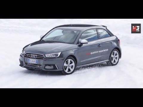 NEW AUDI S3 - S1 DRIVING EXPERIENCE 2015 - FIRST TEST ON ICE ONLY SOUND