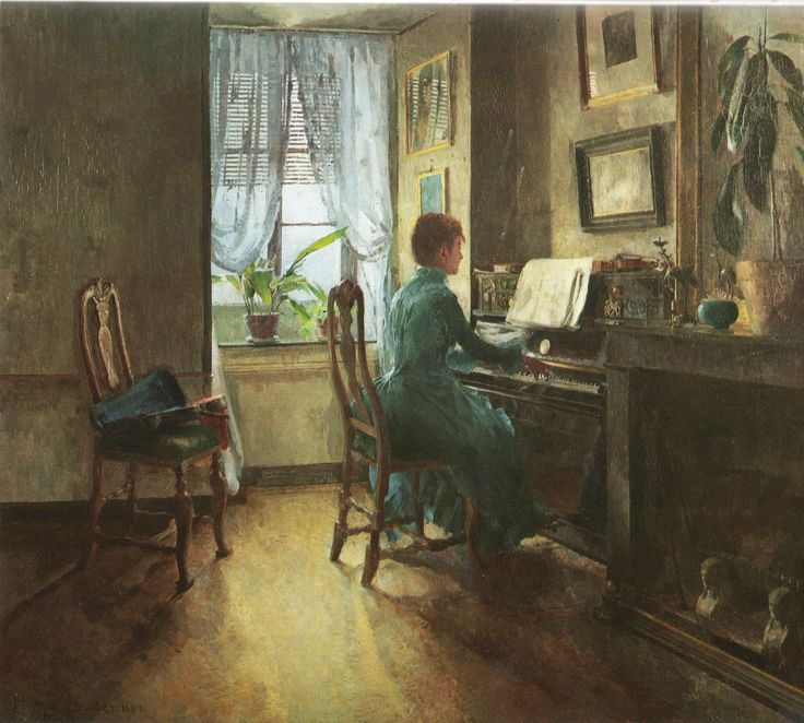 Harriet Backer (1845–1932) Chez Moi (1887). Oil. National Gallery (Norway)
