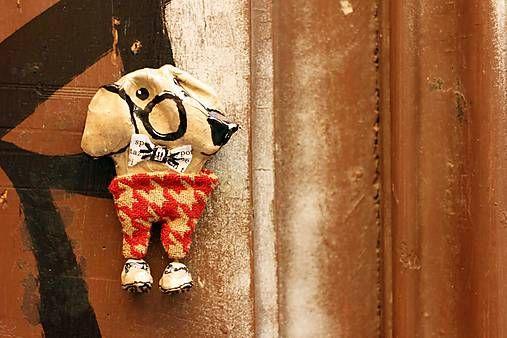 dariaKA / Papírmašé brošňa Pán profesor, Ručné práce. Creative finds. Dog pin.