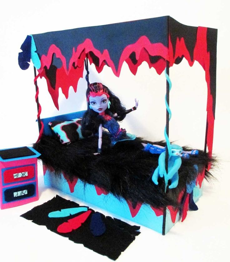 How to make a Jane Boolittle Doll Bed Tutorial/ Monster High (+playlist)