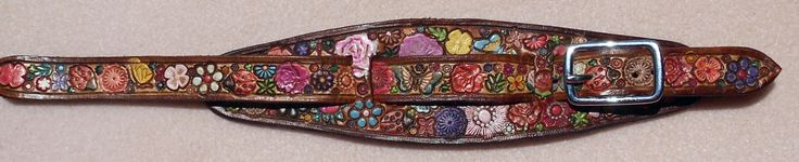 IPod Nano  Leather Watch Band or Wrist Band Cuff with Flower Garden  Butterflies and Brown Border Made in GA USA by galeatherlady on Etsy