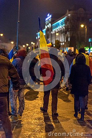 Sibiu, Romania. Romanians demonstrated against government decree decriminalizing some corruption offences.