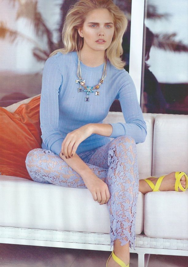 Isabel Garcia SS15 liliac lace trousers at editorial  in Hello! Fashion magazine HELLO Fashion. Soon available online!