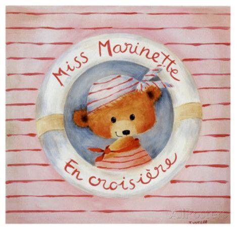 Miss Marinette en Croisiere Affiches par Joëlle Wolff sur AllPosters.fr