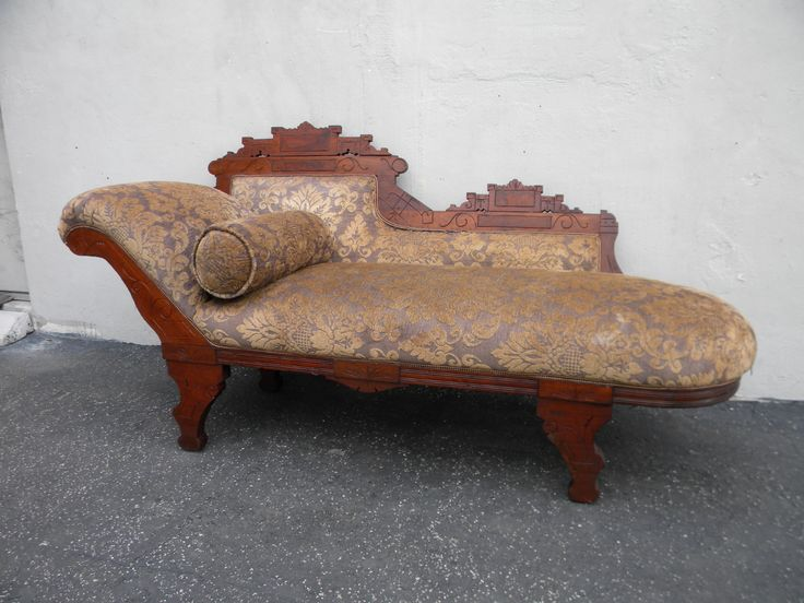 Victorian eastlake fainting sofa chaise lounge 3734 for Antique chaise lounge prices