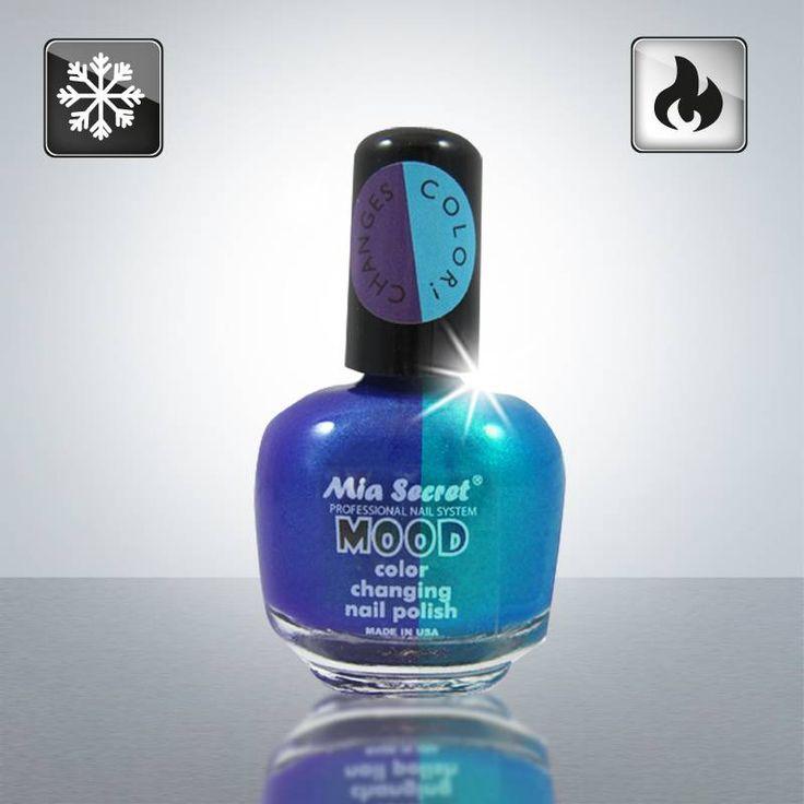 Color Changing mood Nail Polish Morado to Azul
