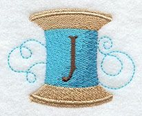 Spool of Thread Letter J - 2 Inch