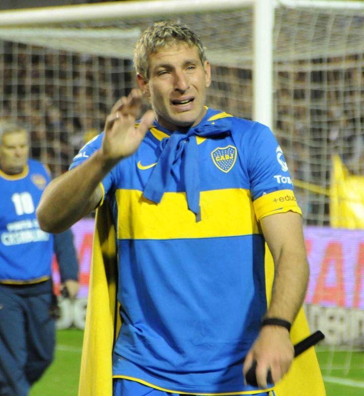 Martin Palermo el dia de su despedida del futbol profesional
