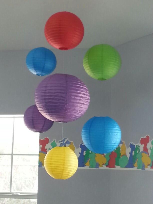 Hanging paper lanterns playroom redo pinterest - White hanging paper lanterns ...