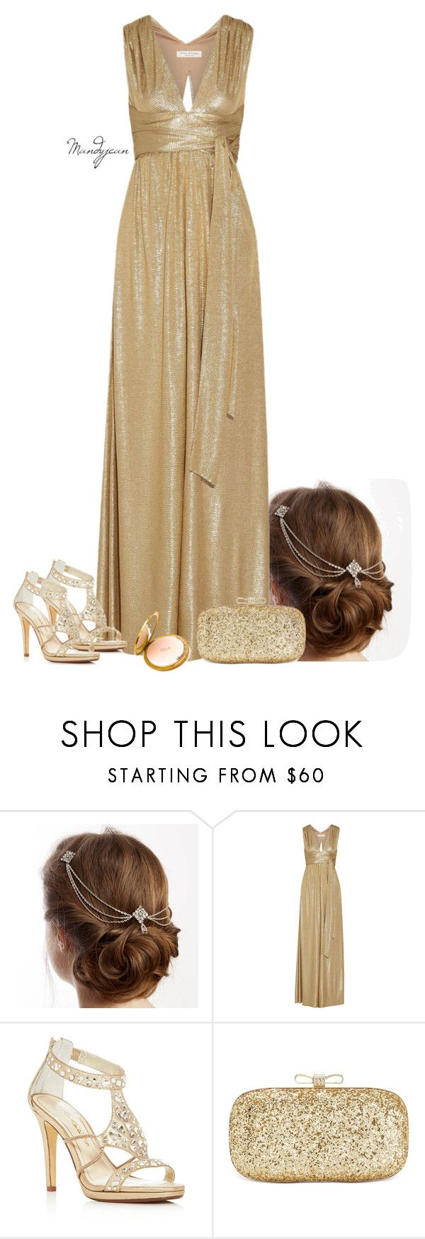 """""""Metallic Prom"""" by mandyjeanb87 on Polyvore featuring Halston Heritage, Caparros and INC International Concepts"""