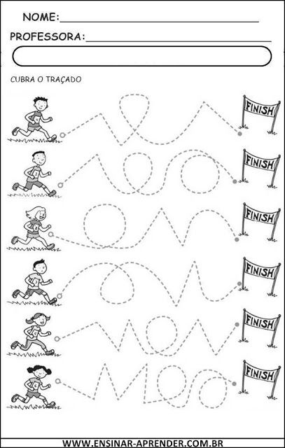 Atividades: Escritas de Coordenação Motora | Cantinho do Educador Infantil