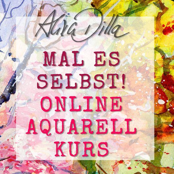 NEU! Aquarellmalen lernen mit dem Online-Malkurs – Aquarell | Watercolor Tutorial