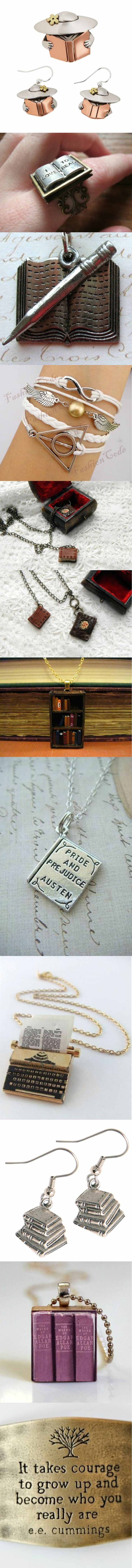 Jewelry inspired by the book  visit: http://pinterest.com/okknihovna/jewelry-inspired-by-the-book-sperky-inspirovane-kn/