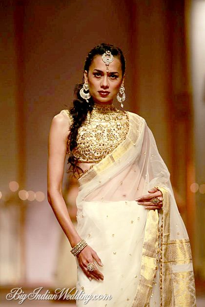 Preeti S Kapoor designer Saree #saree #sari #blouse #indian #outfit  #shaadi #bridal #fashion #style #desi #designer #wedding #gorgeous #beautiful