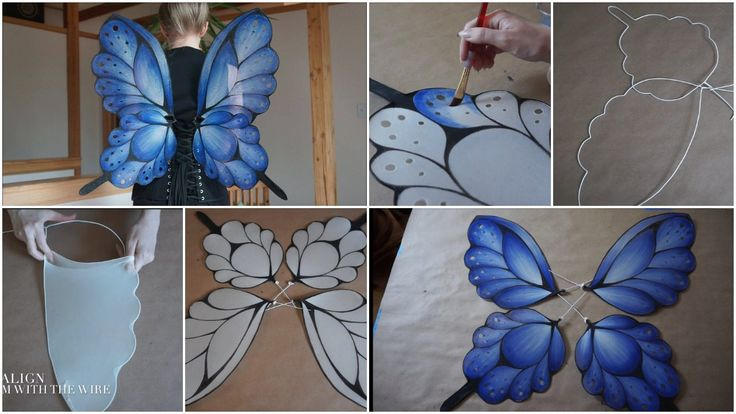 How to make blue fairy wings for fancy dress competition