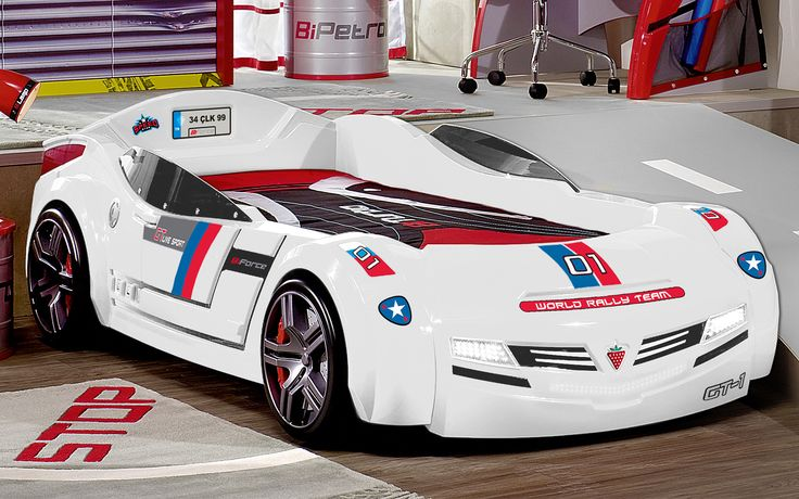 White Car Bed - BiConcept Series