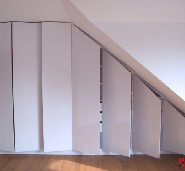 Szafa Na Poddaszu Nowoczesne Meble Na Wymiar Warszawa Wardrobe Room Loft Storage Attic Wardrobe