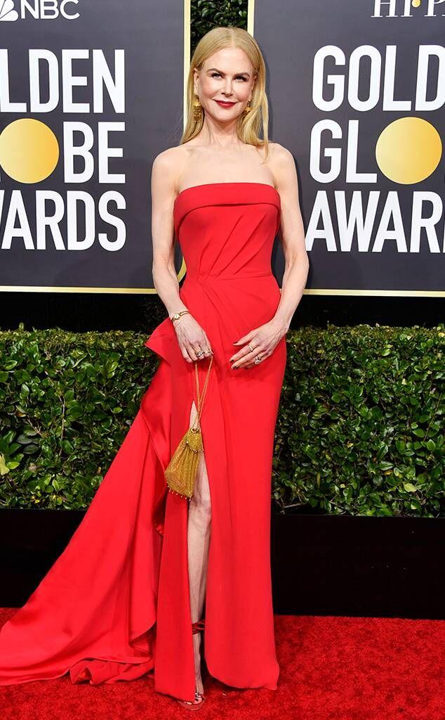 Nicole Kidman From Golden Globes 2020 Red Carpet Fashion In 2020 Red Carpet Fashion Hollywood Red Carpet Red Carpet Dresses