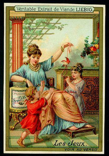 Liebig S214 - Education in Ancient Greece French issue, 1888 | da cigcardpix
