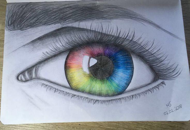 Rainbow-eye #rainbow #auge #zeichnen #Zeichnung #B…