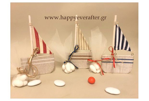 WOODEN BOATS CHRISTENING FAVORS