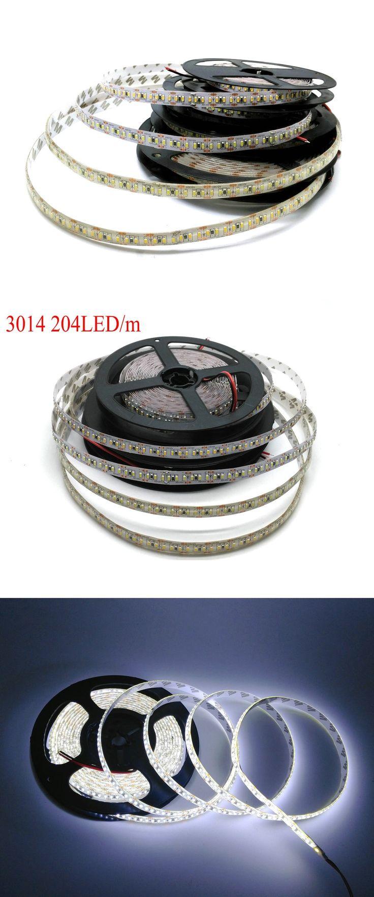 LED Strip 3014 high bright 204 LED/meter DC12V Waterproof White / Warm White Flexible LED Light 5m/lot