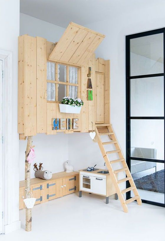 WOODEN TREE HOUSE LOFT BEDS #whoelsomekids #room #letsmakeitwholesome