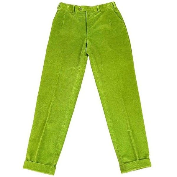 Preowned Brioni Size 32 Green Corduroy Dress Pants ($258) ❤ liked on Polyvore featuring men's fashion, men's clothing, men's pants, men's dress pants, pants, green, mens green pants, mens corduroy pants, mens cuffed pants and mens dress corduroy pants