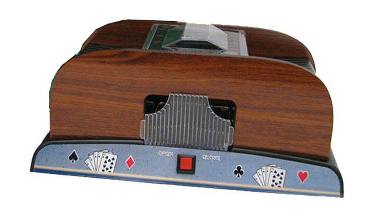 Deluxe Wooden Card Shuffler - Americana Poker Tables
