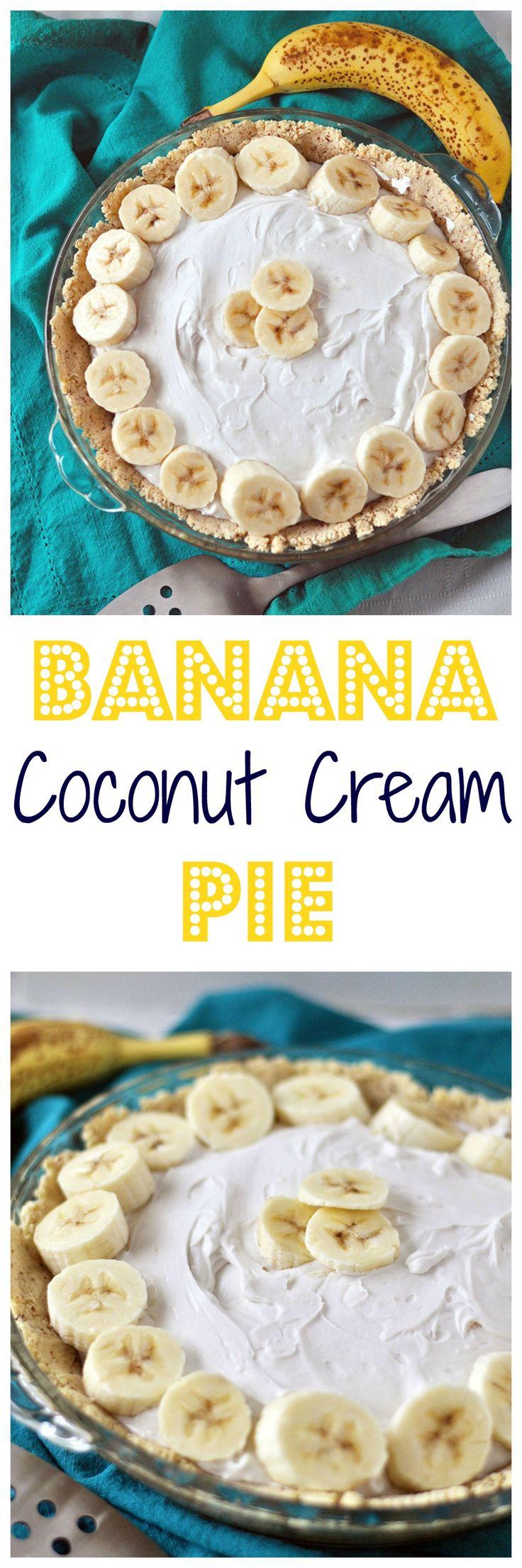 A dreamy creamy banana coconut cream pie. ZERO refined sugar, gluten free, vegan and paleo approved! Easy too.