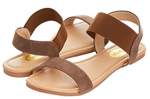 d71158ef4e033 Floopi Womens Summer Flat Sandals Open Toe Wide Elastic Strap Sandal ...