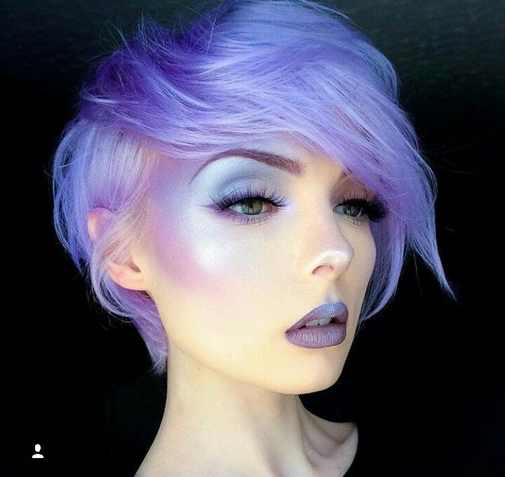 Butterfly and overal etherial fairy look for all with shimmer.  No purple lips but it would be cool to add some of the blue shadow to the middle of the lips for dimension on the butterfly