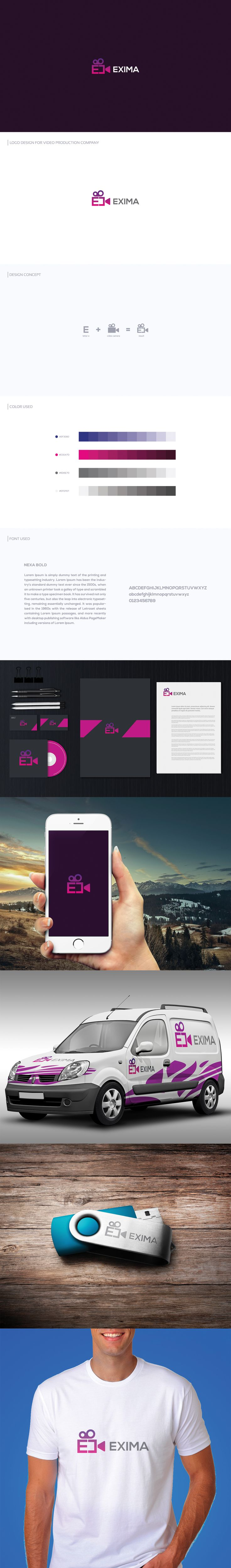 Video production company logo on Behance