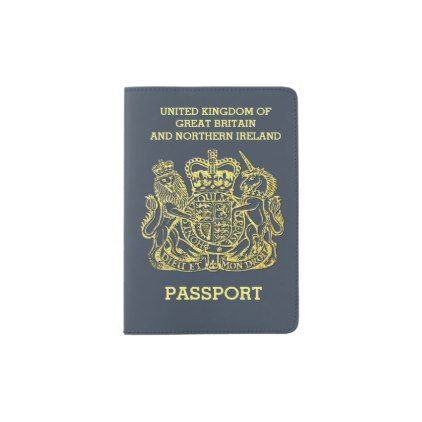 New Blue British Passport Holder - blue gifts style giftidea diy cyo