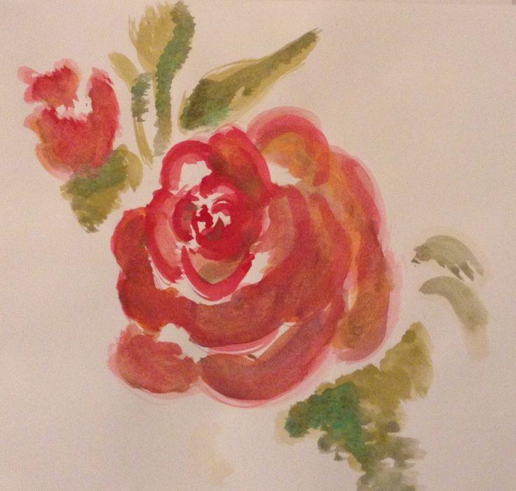 Boceto. Rosas
